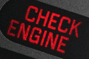 67862465 - check engine warning light in car dashboard